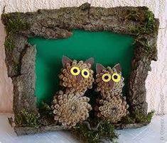 ДЕТСКИЕ ПОДЕЛКИ Nature Crafts, Fall Crafts, Diy Crafts For Kids, Christmas Crafts, Arts And Crafts, Christmas Ornaments, Pine Cone Art, Pine Cone Crafts, Rustic Crafts