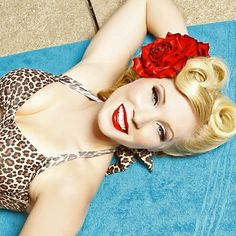 I need to learn to do pinup girl makeup!