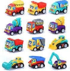 6pcs//Set Kids Children Nursery Pull Back Model Car Vehicle Educational Toy UK