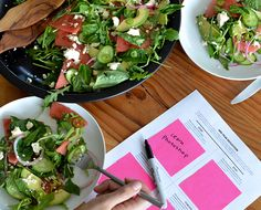 How to connect on a whole new lever with your coworkers through team lunch concepts... #FirstSeating #teamlunch #summersalad