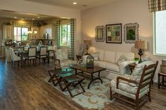 The Tamarisk Plan at Villages at Val Vista | Phoenix, AZ - traditional - family room - phoenix - Meritage Homes
