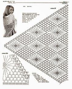 5 Modelos de Chales con sus patrones   Patrones de tejido