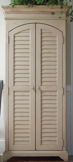 Paula Deen Sea Oat Utility Cabinet - I love this cabinet! Coastal Furniture, Dining Room Furniture, Furniture Decor, Painted Furniture, Utility Cabinets, Built In Cabinets, Cupboards, Paula Dean Furniture, Girl Decor