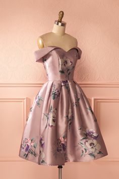 Layana - Lilac floral cocktail dress