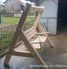 Top 10 Easy Woodworking Projects to Make and Sell Diy Wood Projects, Outdoor Projects, Wood Crafts, Yard Furniture, Pallet Furniture, Furniture Online, Yard Swing, Bench Swing, Wooden Swings
