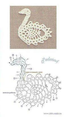 Crochet swan pattern