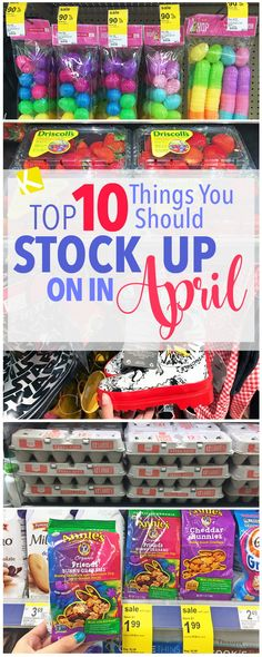 10 Things You Should Stock Up on in April