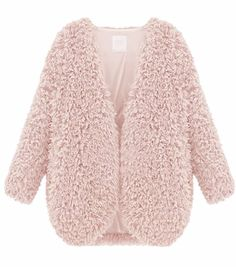 Gender: Women Outerwear Type: Fur & Faux Fur Decoration: Shaggy Detailing Clothing Length: Regular Sleeve Style: Regular Type: Coat Closure Type: None Craft\Technics: Natural Color Material: Faux Fur