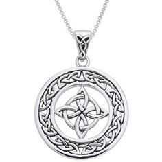 @Overstock - Stylish pendant showcases a 'good luck' Celtic knot design Hand-finished jewelry is crafted entirely of fine .925 sterling silver Good Luck necklace is framed by a never-ending Celtic knot borderhttp://www.overstock.com/Jewelry-Watches/Sterling-Silver-Celtic-Good-Luck-Knot-Necklace/4311045/product.html?CID=214117 $33.99