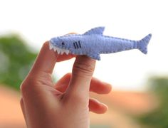 Felt Pin - Cute Shark By LuluLyna @Etsy: Size : About W 9 X H 3 cm. Materials: Felt, Cotton and Thread.