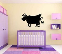 Funny Cow Vinyl Wall Decal Sticker Graphic by LuckyLabradorsDecals