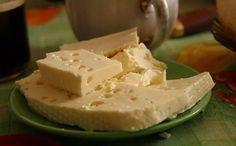 Obraz do przepisu: Homemade cheese. Russian Desserts, Russian Recipes, No Dairy Recipes, Dessert Recipes, Cooking Recipes, Easy Recipes, How To Make Cheese, Food To Make, Homemade Cheese