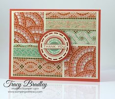 Stampin' Up! Stitched Labels Dies - Stamping With Tracy Paper Mosaic, Mosaic Art, Mood Card, Stamping Up Cards, Rubber Stamping, Mosaic Madness, Paper Cards, Paper Decorations, Creative Cards