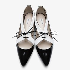 black and white flats