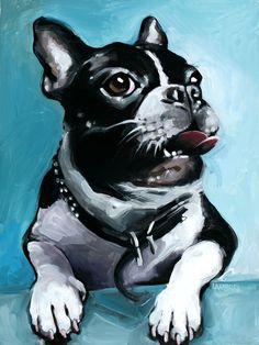 """Boris"" acrylic painting on canvas commission #frenchbulldog #dogportrait #petportrait"