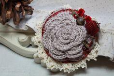 Crochet+Brooch.Lace+Brooch.Free+Shipping.+by+KatesBeautyStore,+€20.00