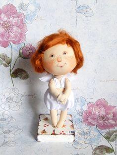 Купить ОН СКАЗАЛ, ЧТО Я КРАСИВАЯ кукла по мотивам картин Е.Гапчинской - комбинированный