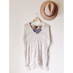 T/O Knit Fringe Tunic The prettiest boho tunic. Large sleeve opening. Fringe detail. Bundle to save! T/O Tops Tunics