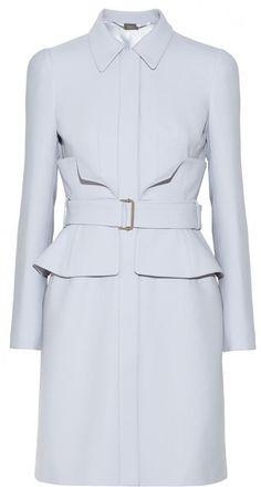 Light Blue Coat by Alexander McQueen. Buy for $3,875 from NET-A-PORTER.COM