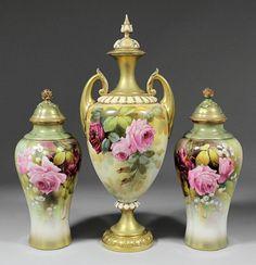 Royal Worcester Porcelain — 'Blush Ivory' Vases,1908  (1000x1038)