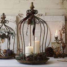 Wire Cloche Candle Holder