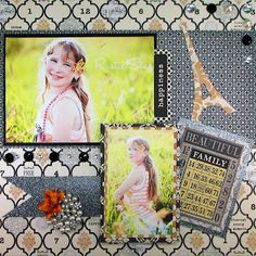 Vintage Finds Page Layout #Teresa Collins #paper #pretty