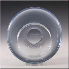 Holmegaard Per Lutken 'Akva' Blue Glass Bowl Signed - £20.00