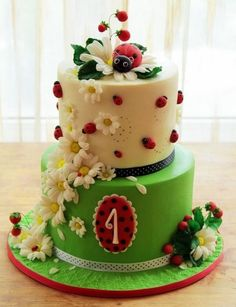 Ladybug cake- OMG I had ladybugs all over my classroom when I taught. This would have been a great party cake.
