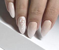 Glam Nails, Classy Nails, Cute Nails, Bride Nails, Wedding Nails, Nagel Blog, Nail Polish, Shellac, Almond Nails