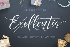 http://Exellentia is a stunning handwritten font with over 520 handwritten characters.