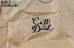 """""""Gott sei Dank"""" Bible Art Journaling Stempel ©bibleartjournaling.de"""
