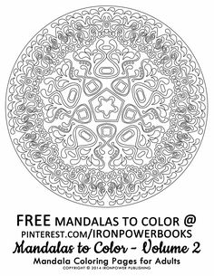 FREE Mandala Printable Coloring Pages for Adults