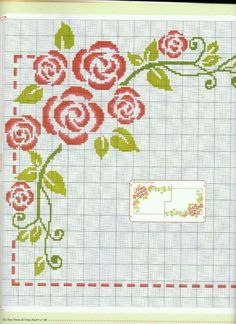 This Pin was discovered by Bet Cross Stitch Pillow, Cross Stitch Borders, Cross Stitch Rose, Cross Stitch Baby, Cross Stitch Flowers, Cross Stitch Charts, Cross Stitch Designs, Cross Stitching, Cross Stitch Embroidery