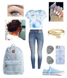"""""""Untitled #12"""" by mayabanana123 ❤ liked on Polyvore featuring Billabong, Uncommon, Ray-Ban, Bling Jewelry, Converse, women's clothing, women, female, woman and misses"""