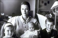 Princess Grace and her three children