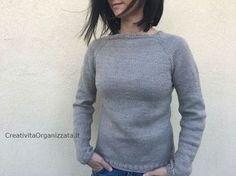 Come fare un maglione top down ai ferri: il mio tutorial per realizzarne uno facile, che va bene sia per donna che per uomo e in qualsiasi taglia. Fare un maglione non è cosa facile, di solito; occo