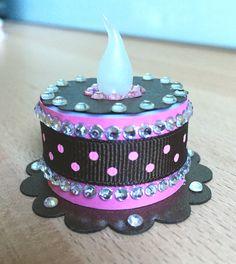 """Raspberry Dazzle"" Tea Light Cake (made by Kim)"