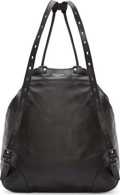 Rag & Bone Black Leather Grayson Backpack