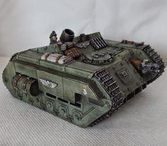 Cardboard and plasticard scratch built Imperial Guard Griffon.