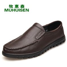 42.88$  Watch now - http://alil7z.shopchina.info/1/go.php?t=32814930124 - Men Shoes Genuine Leather Casual Shoes Soft Business Shoes Comfort Men's Flat Shoes Moccasins Zapatos De Los Hombres XK060501 42.88$ #buyonline