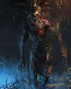 undead cleric noble [Death God by Ignacio Bazán Lazcano] Dark Fantasy Art, Fantasy Artwork, Dark Art, Fantasy Monster, Monster Art, Zombies, Digital Art Illustration, Aztecas Art, Death God