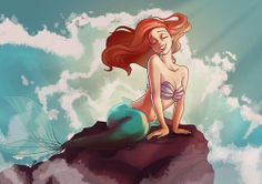 Disney Princess Ariel the Little Mermaid Ariel Disney, Disney Girls, Ariel Mermaid, Ariel The Little Mermaid, Mermaid Art, Disney And Dreamworks, Disney Pixar, Disney Characters, Disney Princesses