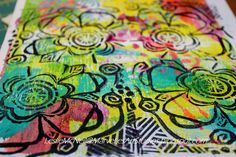 """Leslie McNeil - """"love it on the gelli prints, and once again ~ it's all fun in my book! and...i am ready to do more!!"""""""