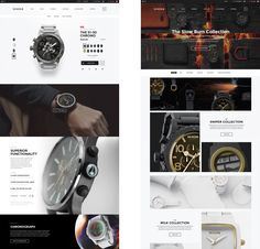 BASIC partnered with Nixon watches to establish a digital strategy and brand design language for their eCommerce platform, bringing the user experience to the heart of the digital experience. Ecommerce Web Design, App Ui Design, User Interface Design, Branding Design, Watch Websites, Digital Strategy, Ecommerce Platforms, Cool Watches, Nixon Watches