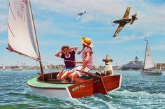 Buzzin' the Bay | Stan Vosburg Aviation Art. My Dad's newest painting. Order at StanVosburg.com