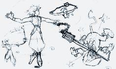 Kingdom Hearts concept sketches © Square-Enix