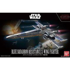 Star Wars Bandai 1/72 Plastic Model : Blue Squadron Resistance X-Wing Fighter #starwars #bluesquadron #resistancexwingfighter #bandai #plasticmodel #hypetokyo