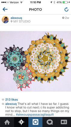 La Passacaglia quilt blocks--I want to do this of romanesco cauliflower