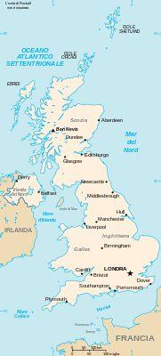 Regno Unito - Mappa