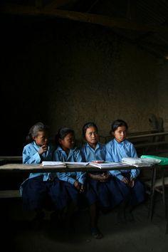 Schoolkinderen in Kathmandu, Nepal